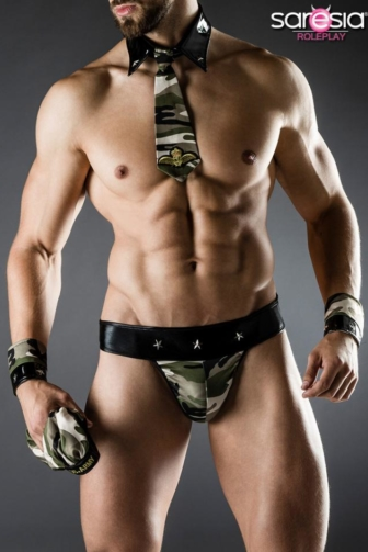 Army Costume by Saresia MAN roleplay